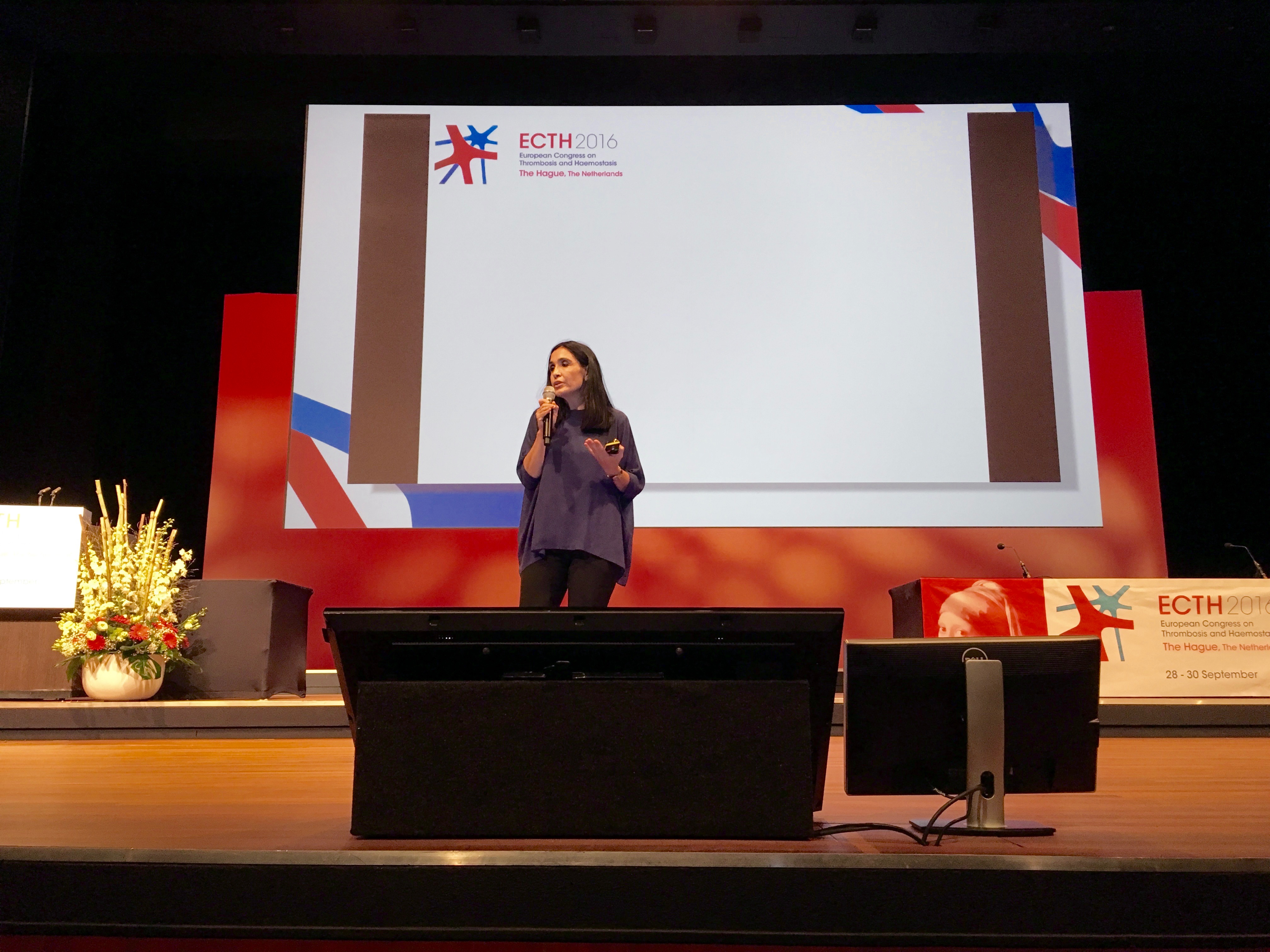 Maria Luisa Lozano presenteerde zonder slides op ECTH 2016