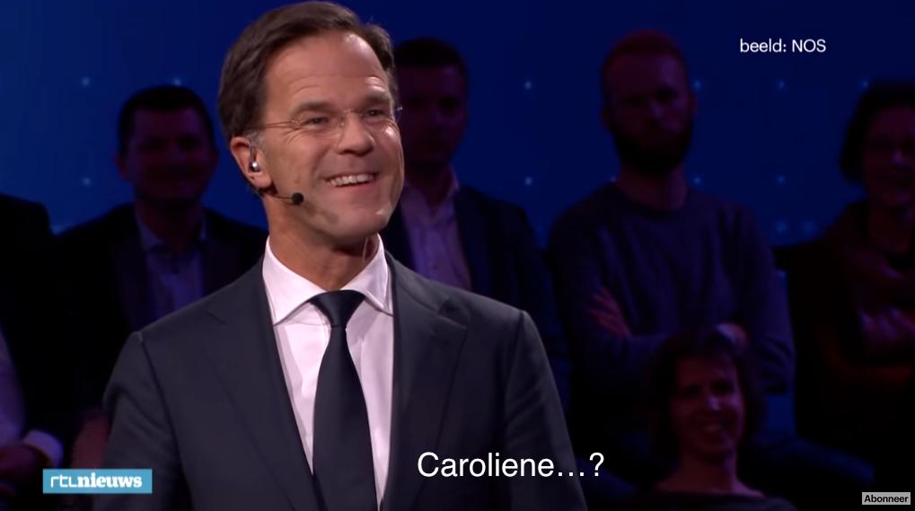 Black-out Rutte Caroliene debate