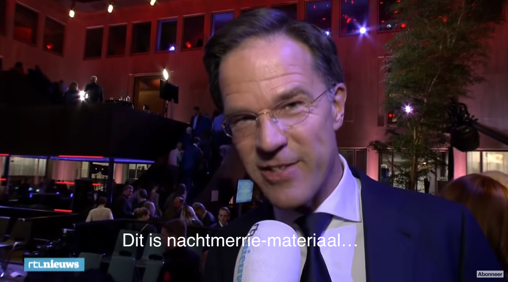 Rutte nachtmerrie black-out interview