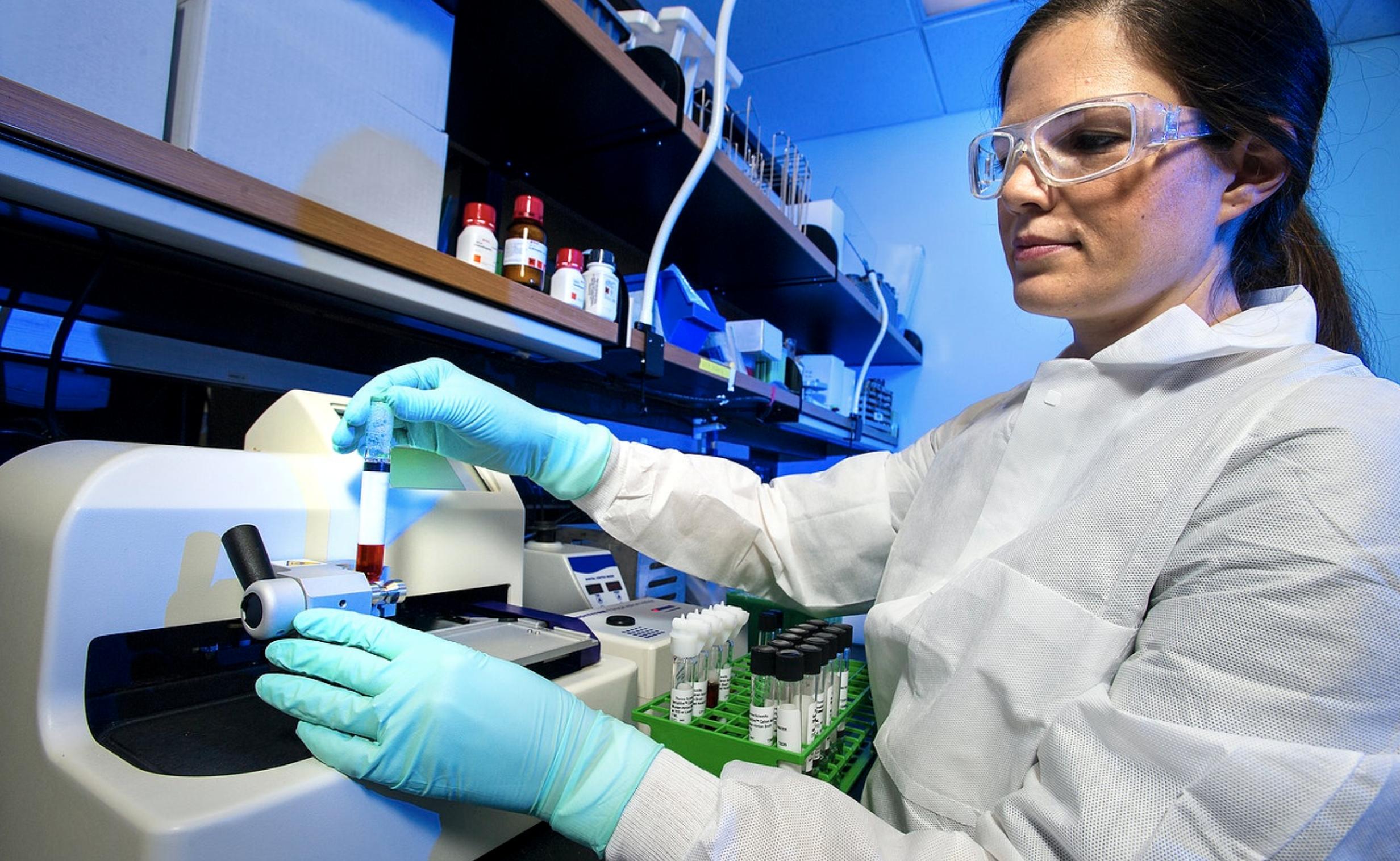 PhD researcher in laboratory